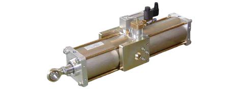 Hydropneumatikzylinder zur Vorschubbewegung an Rollentrennmaschinen