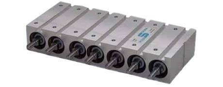 Mehrfach-Zylinderblock in Kompaktbauweise