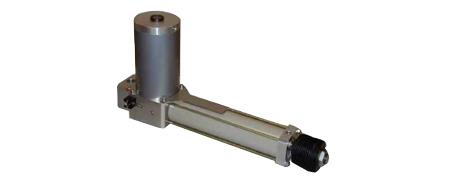 Zylinder mit pneumatisch lösbarer hydraulischer Verriegelung