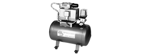 Oilfree Diaphragm Air Compressors mounted on air reservoir
