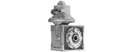 Druckluftmotoren m. Schneckengetriebe